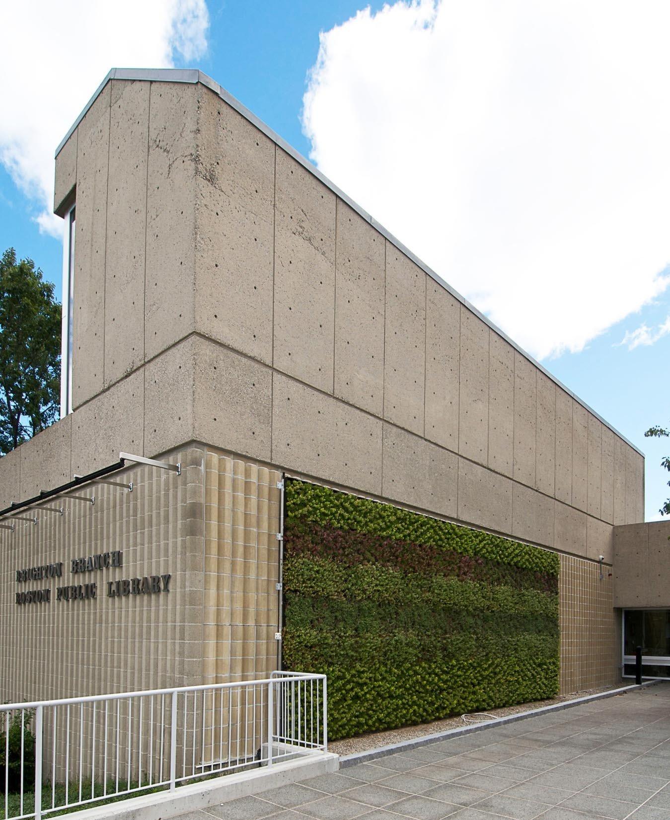 Boston Public Library, Brighton Branch, Green Wall