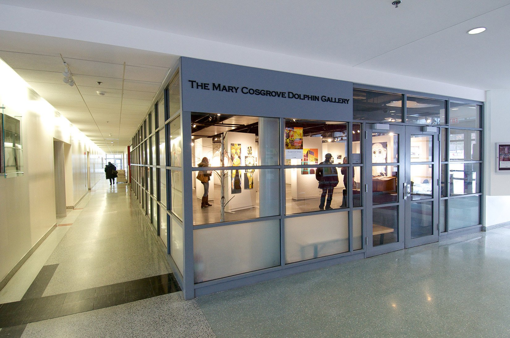 Worcester State University, Mary Cosgrove Dolphin Art Gallery, Entrance