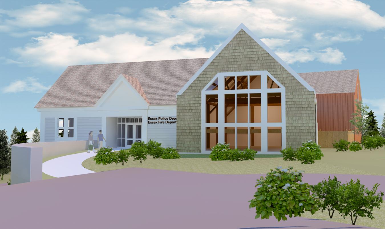 Essex Public Safety Building, Entrance