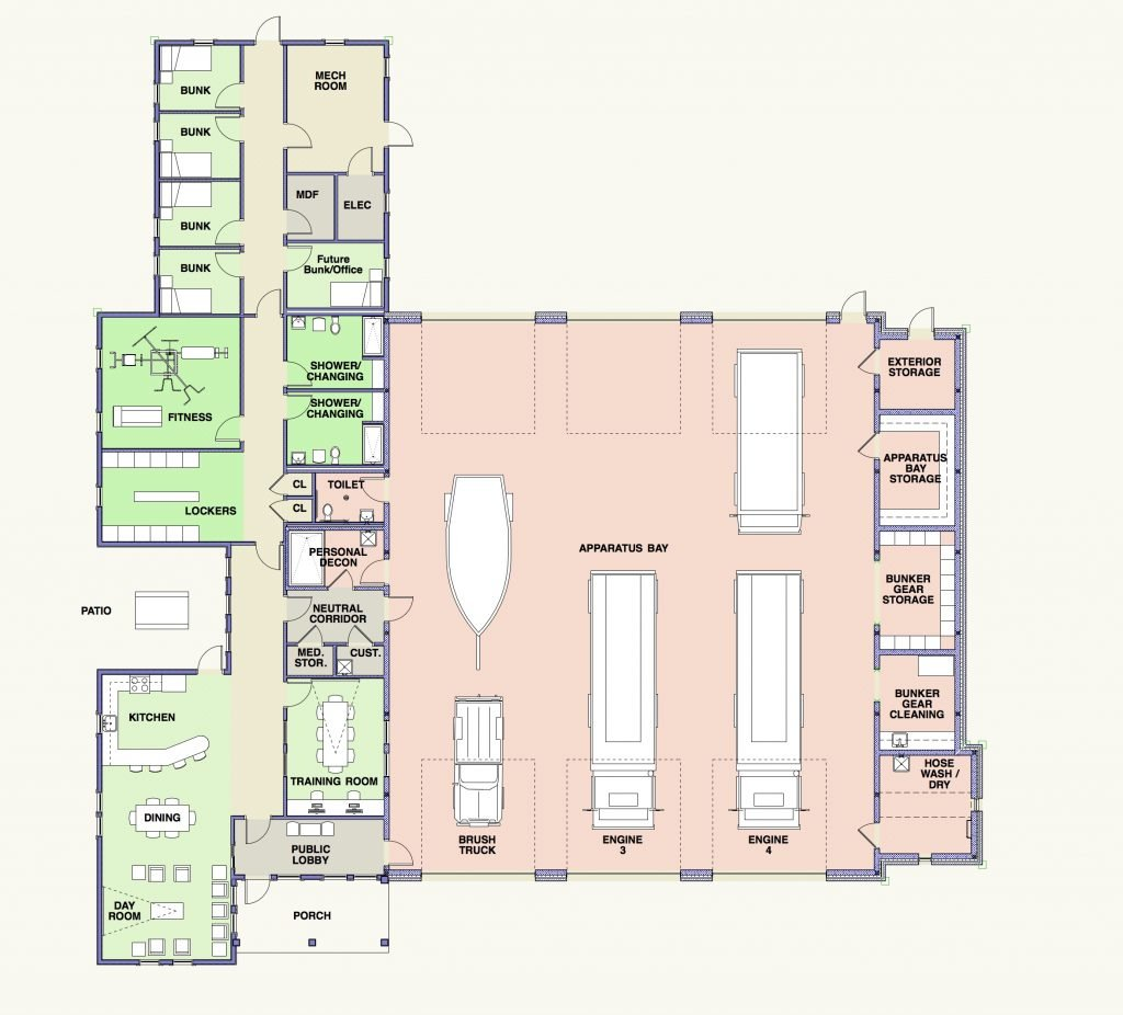 Dracut Fire Station, Floor Plan