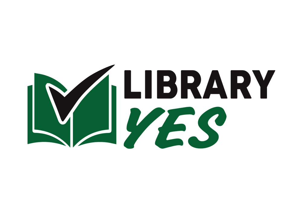 Greenfield Public Library Funding Logo, LibraryYES!
